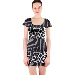Animal Print Short Sleeve Bodycon Dress by chihuahuadresses
