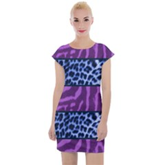 Animal Print Cap Sleeve Bodycon Dress by chihuahuadresses