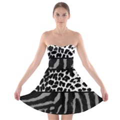 Animal Print Strapless Bra Top Dress by chihuahuadresses