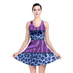 Animal Print Reversible Skater Dress by chihuahuadresses
