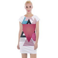 Geometric Line Patterns Cap Sleeve Bodycon Dress by Mariart