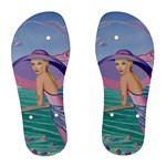 Palm Beach Purple Fine Art Sharon Tatem Fashion Apparel and Products Women s Flip Flops
