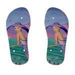Palm Beach Purple Fine Art Sharon Tatem Fashion Apparel and Products Kid s Flip Flops