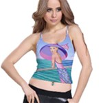 Palm Beach Purple Fine Art Sharon Tatem Fashion Apparel and Products Spaghetti Strap Bra Top