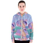 Palm Beach Purple Fine Art Sharon Tatem Fashion Apparel and Products Women s Zipper Hoodie