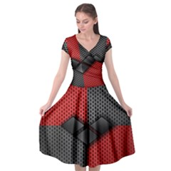 Harley Quinn Black Diamond Cap Sleeve Wrap Front Dress by Bejoart