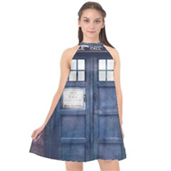 Doctor Who Tardis Halter Neckline Chiffon Dress