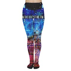 Doctor Who Quotes,trust Me Im Doctor Tights by Bejoart