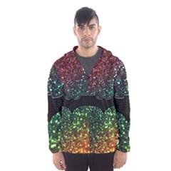 Bat Rainbow Glitter Hooded Windbreaker (men) by Bejoart