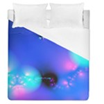 Love In Action, Pink, Purple, Blue Heartbeat Duvet Cover (Queen Size)