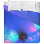 Love In Action, Pink, Purple, Blue Heartbeat Duvet Cover Double Side (California King Size)