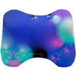 Love In Action, Pink, Purple, Blue Heartbeat Head Support Cushion