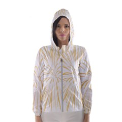 Yellow Firework Transparent Hooded Windbreaker (women) by Mariart