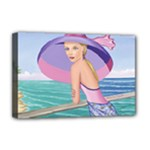 Palm Beach Purple, Fine Art Printed Product, Wearable art, Sharon Tatem Fashion,Apparel and Products Deluxe Canvas 18  x 12  (Stretched)