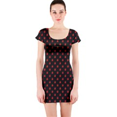 Love Apples Short Sleeve Bodycon Dress by chihuahuadresses