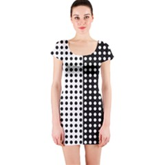 Polka Dot Short Sleeve Bodycon Dress by chihuahuadresses