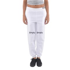 Black And White Abstract Pattern Women s Jogger Sweatpants by Valentinaart