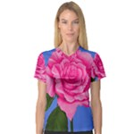 Roses Collections V-Neck Sport Mesh Tee