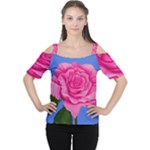 Roses Collections Cutout Shoulder Tee