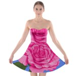 Roses Collections Strapless Bra Top Dress