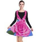 Roses Collections Plunge Pinafore Dress