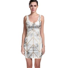 Vector Marble Texture Seamless Pattern  Bodycon Dress