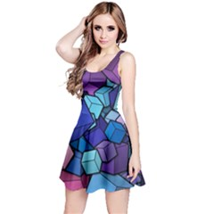 Cubes Vector Reversible Sleeveless Dress