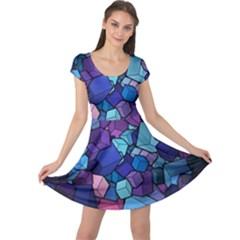 Cubes Vector Cap Sleeve Dress