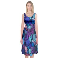Cubes Vector Midi Sleeveless Dress