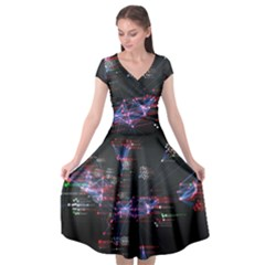 Anarchy Computer Cyber Hacker Hacking Virus Dark Sadic Internet Cap Sleeve Wrap Front Dress