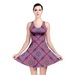 Ethnic Floral Seamless Pattern Reversible Skater Dress