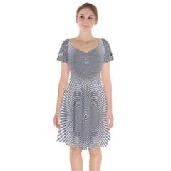 Abstract Animated Ornament Background Short Sleeve Bardot Dress