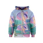 Palm Beach Purple Fine Art Sharon Tatem Fashion Apparel and Products Kids  Zipper Hoodie