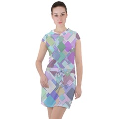 Colorful Background Multicolored Drawstring Hooded Dress by Bejoart