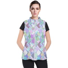 Colorful Background Multicolored Women s Puffer Vest