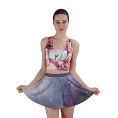 Orion Nebula Pastel Violet Purple Turquoise Blue Star Formation Mini Skirt by genx