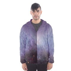 Orion Nebula Pastel Violet Purple Turquoise Blue Star Formation Hooded Windbreaker (men) by genx