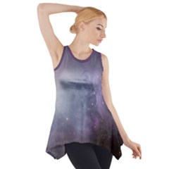 Orion Nebula Pastel Violet Purple Turquoise Blue Star Formation Side Drop Tank Tunic by genx