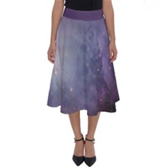 Orion Nebula Pastel Violet Purple Turquoise Blue Star Formation Perfect Length Midi Skirt by genx