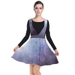 Orion Nebula Pastel Violet Purple Turquoise Blue Star Formation Plunge Pinafore Dress by genx