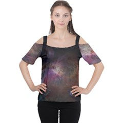 Orion Nebula Star Formation Orange Pink Brown Pastel Constellation Astronomy Cutout Shoulder Tee by genx