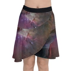 Orion Nebula Star Formation Orange Pink Brown Pastel Constellation Astronomy Chiffon Wrap Front Skirt by genx