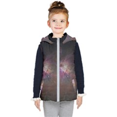 Orion Nebula Star Formation Orange Pink Brown Pastel Constellation Astronomy Kid s Hooded Puffer Vest by genx