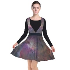 Orion Nebula Star Formation Orange Pink Brown Pastel Constellation Astronomy Plunge Pinafore Dress by genx