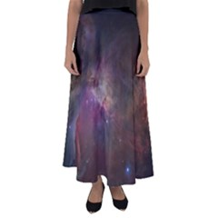 Orion Nebula Star Formation Orange Pink Brown Pastel Constellation Astronomy Flared Maxi Skirt by genx