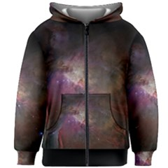 Orion Nebula Star Formation Orange Pink Brown Pastel Constellation Astronomy Kids Zipper Hoodie Without Drawstring by genx