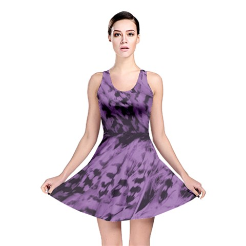 Purple Bird Reversible Skater Dress