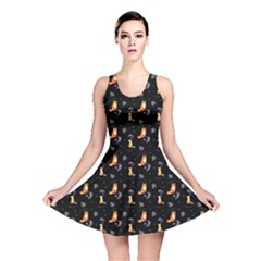 Foxes Reversible Skater Dress by chihuahuadresses