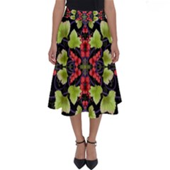 Pattern Berry Red Currant Plant Perfect Length Midi Skirt