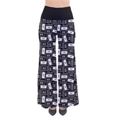 Tape Cassette 80s Retro Genx Pattern Black And White So Vintage Palazzo Pants by genx